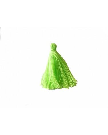Pompon 25-29mm aspect coton vert néon x1