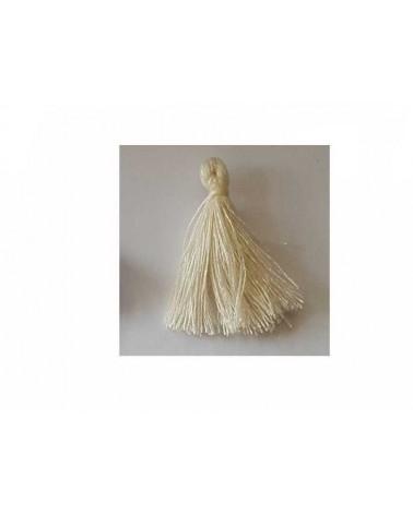 Pompon 25-29mm aspect coton ivoire x1