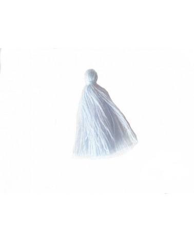 Pompon 25-29mm aspect coton ciel x1