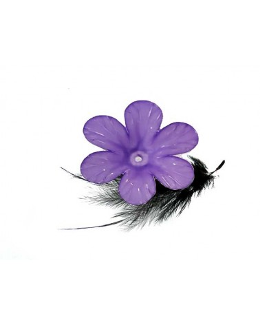 Fleur Acrylique 33mm Violet X 1