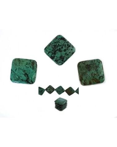 Losange Jaspe vert 25x25mm X 1