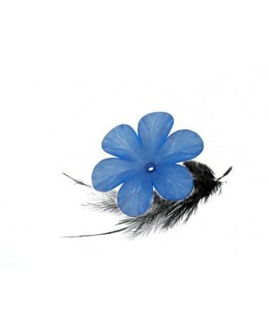 Fleur Acrylique 30mm Bleu X 1