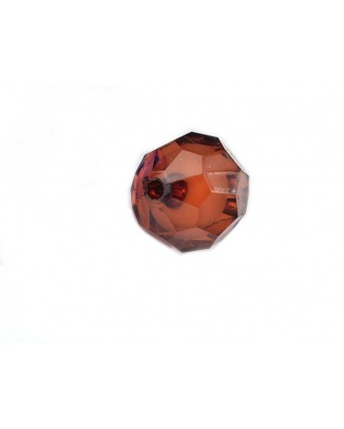 Boule facettée 20mm Acrylique Marron X1