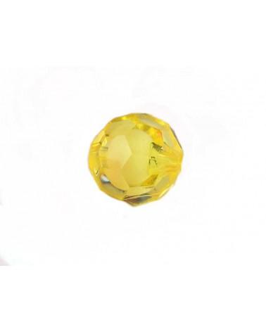 Boule facettée 20mm Acrylique Jaune X1