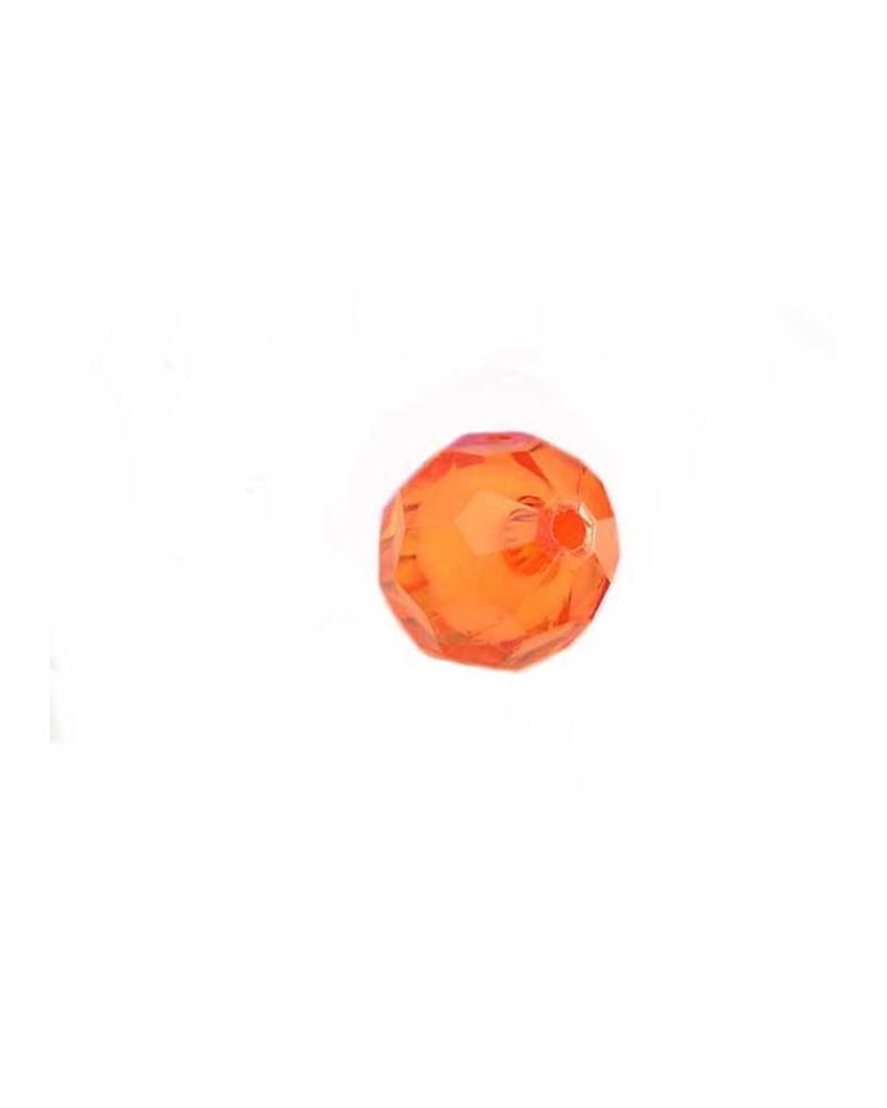 Boule facettée 20mm Acrylique Orange X1