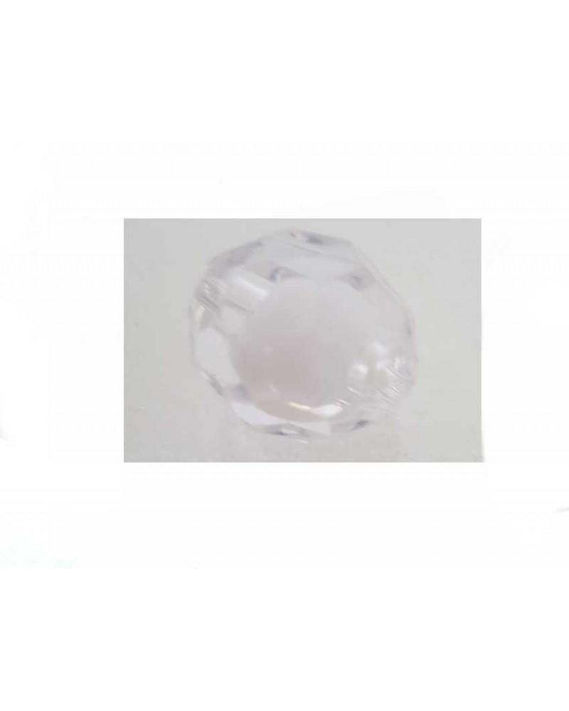 Boule facettée 20mm Acrylique Blanc X1