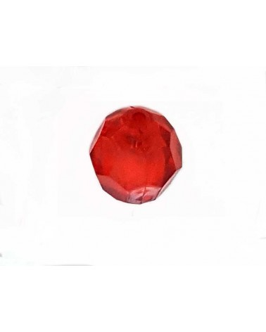 Boule facettée 20mm Acrylique Rouge X1