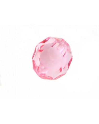 Boule facettée 20mm Acrylique Rose X1