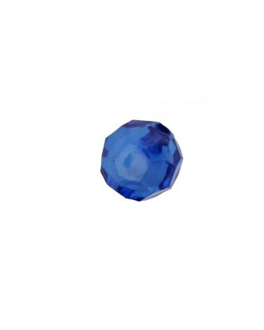 Boule facettée 20mm Acrylique Bleu X1