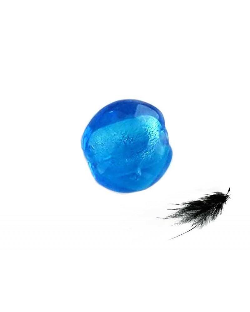 Lentille feuille d'argent 15mm Bleu X 1