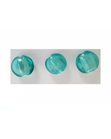Lentille 15mm feuille d'argent vert d'eau X 1