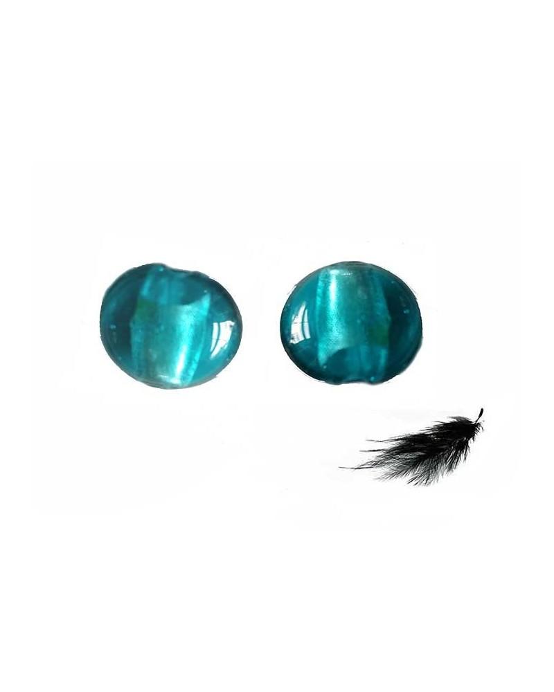lentille 15mm turquoise vert