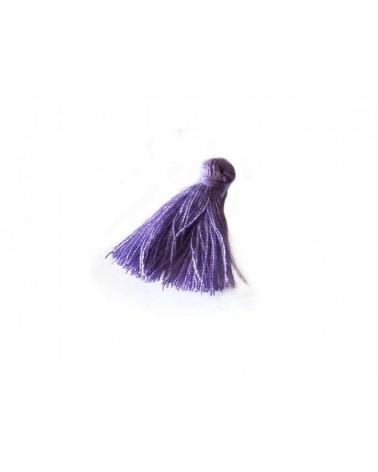 Pompon 25-29mm aspect coton Lilas x1