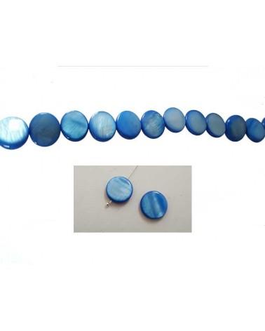 Palet Nacre 12mm Bleu X5