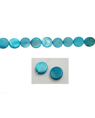 Palet Nacre 12mm Turquoise X5
