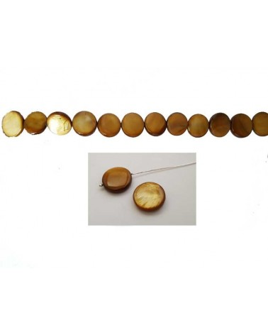 Palet Nacre 12mm Or Brun X5