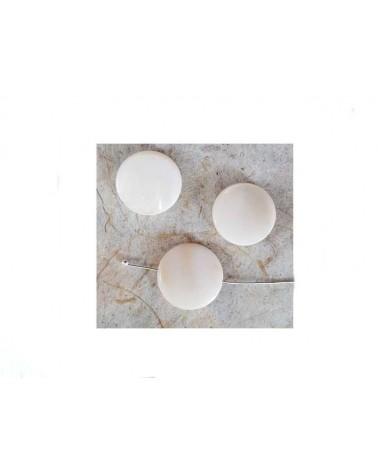 Palet Nacre 15mm Blanc X 5