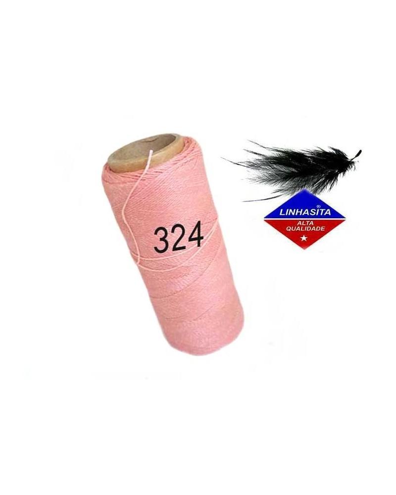 Fil ciré 0.5MM Linhasita Saumon (324) X 5M