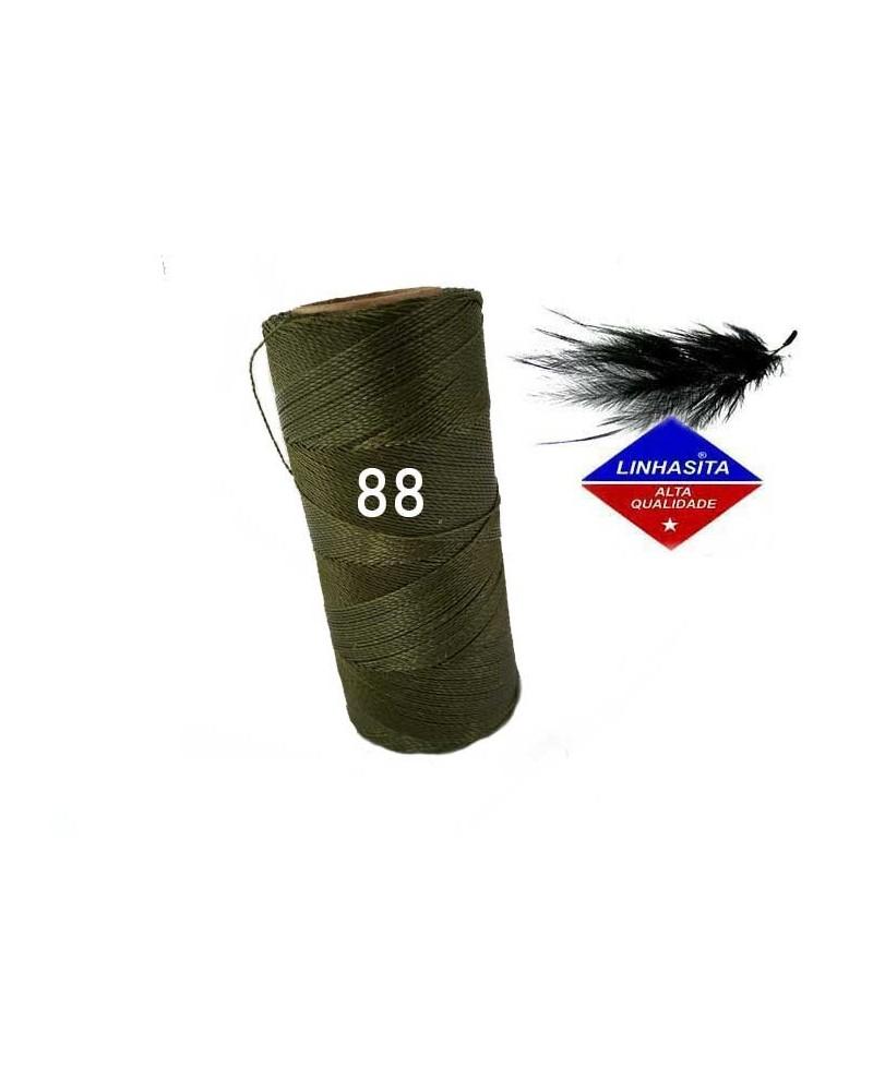 Fil ciré 0.5MM Linhasita Olive Green (88) X 5M