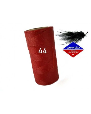 Fil ciré 0.5MM Linhasita Dark Red (44) X 5M