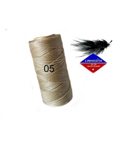 Fil ciré 1MM Linhasita Lin Naturel (05) X 5M