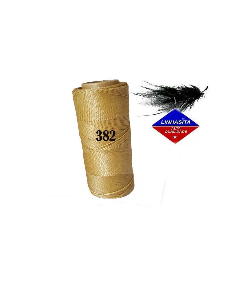 Fil ciré 0.5MM Linhasita Tan (382) X 5M