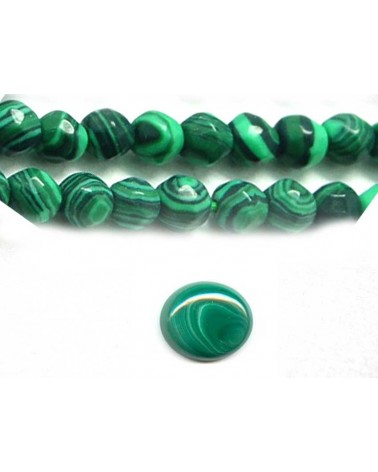 Malachite facettée 3mm imitation x 20