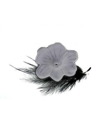 Fleur lucite 27mm Blanc dépoli X 1