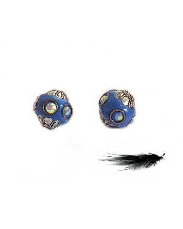 Perle d'indonésie 13mm Bleu argenté X 1