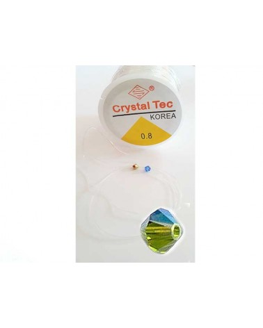 Fil élastique silicone 0.8mm crystal X 3M