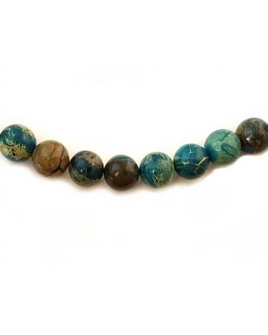 Jaspe aqua terra plat 16mm turquoise-marbré x1