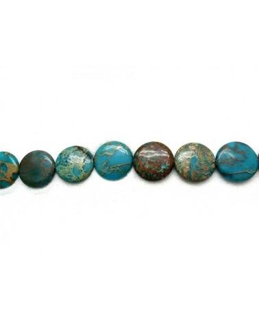 Jaspe aqua terra plat 30x8mm turquoise-marbré X1