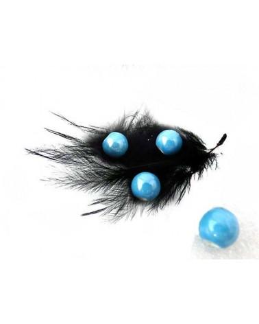 Perle céramique 10mm Bleu turquoise