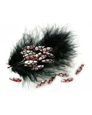 Dague en verre de Bohême  5 x 16mm Siam Mat  Mat vitrail  peacock