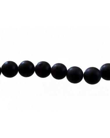 Agate Noires Mat 8mm x 10