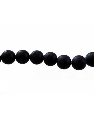 Agate Noires Mat 10mm x 10