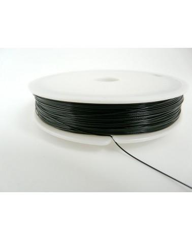 Fil cablé noir 0.45mm 7 brins 100 Mètres