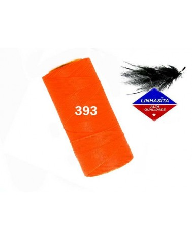 Fil ciré 0.5MM Linhasita Néon Orange (393)) X 5M