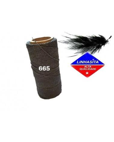 Fil ciré 1MM Linhasita Dark Grey (665) X 5M
