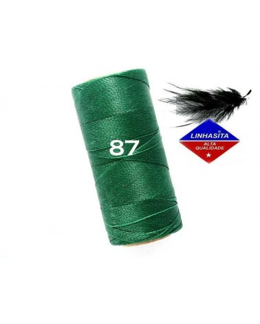 Fil ciré 0.5MM Linhasita Dark Green (87) X 5M