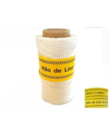 Fil de Lin ciré 0,7mm Blanc N°1 pour bijoux micro macramé X 5M