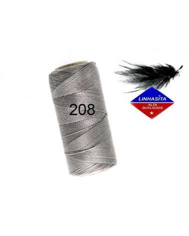 Fil ciré 0.5MM Linhasita grey(208) X 5M