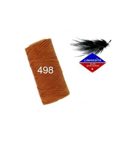 Fil ciré 1MM Linhasita Camel Brown (498) X 5M
