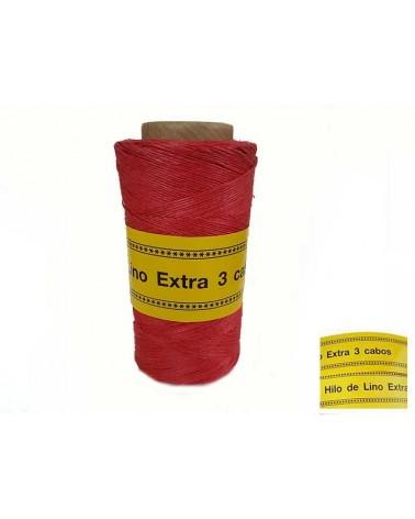 Fil de Lin ciré 0,7mm Fuchsia N°13 pour bijoux micro macramé X 5M