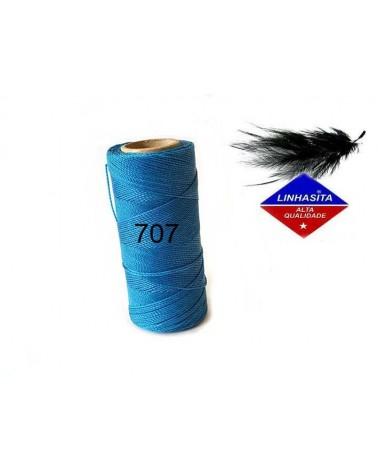 Fil ciré 1MM Linhasita Dark Turquoise (707) X 5M