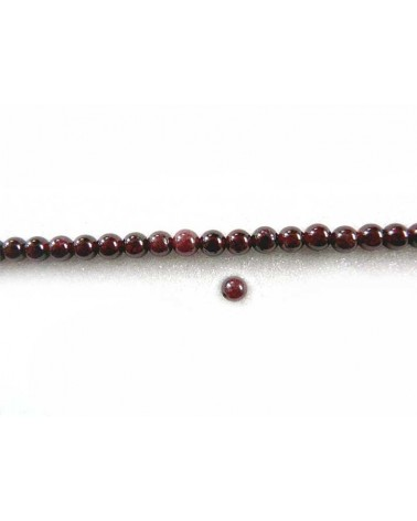 Grenat 4mm rouge X 20
