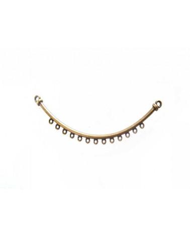Connecteur pour collier 8cm 13 trous bronze x1