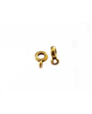 Attache pendentif 6.5mm pour cordon 2mm Doré X1