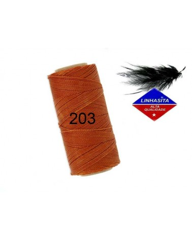 Fil ciré 1MM Linhasita Caramel (203) X 5M