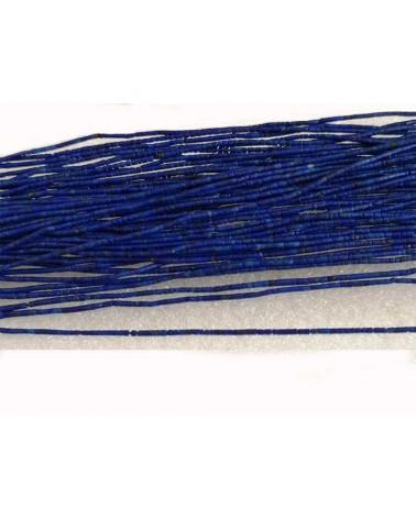 Lapis-lazuli naturel 1.2mm tubes heishi Bleu X 1 rang